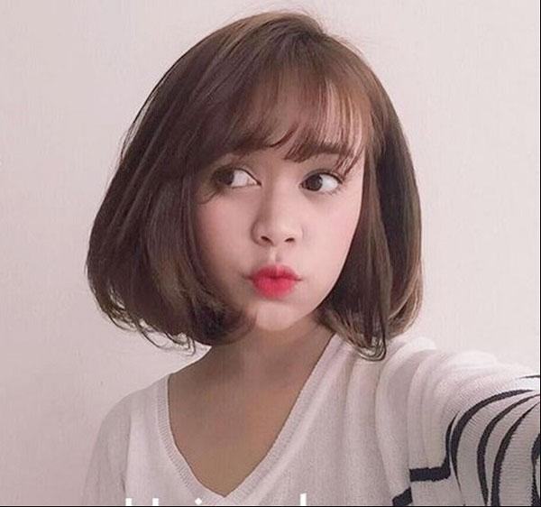 Tóc Bob Hàn Quốc ngôi lệch