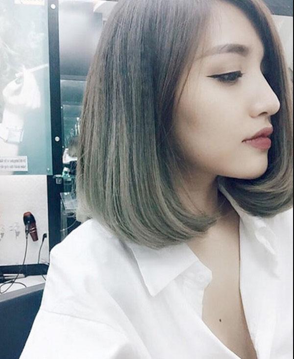 Tóc ngắn uốn cup của Bích Phương