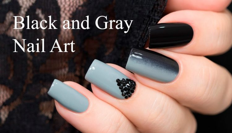 Màu móng tay đen và xám