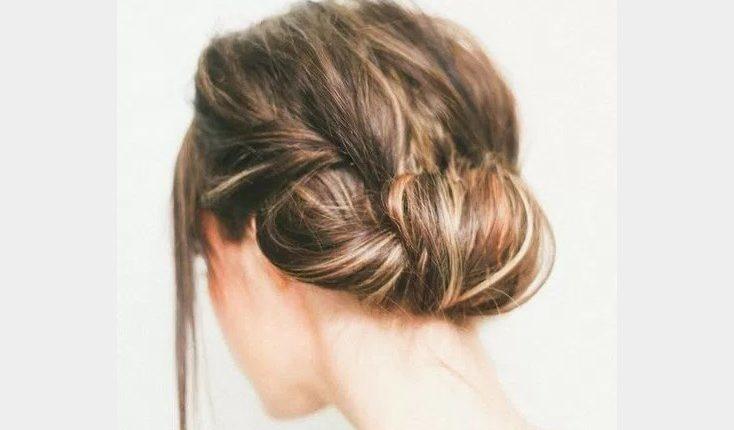 Tết tóc búi thấp