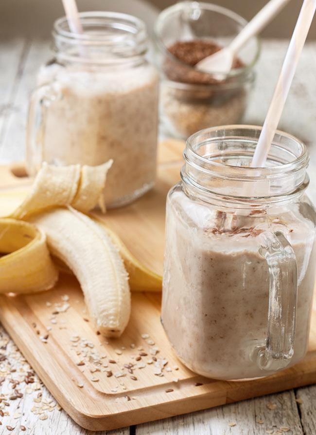 Uống sinh tố chuối với hạt lanh hàng ngày giúp giảm cân nhanh chóng