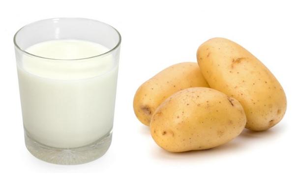 Làm mặt nạ khoai tây với sữa chua không đường