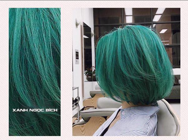 Màu xanh ngọc bích cho bạn cá tính nổi bật