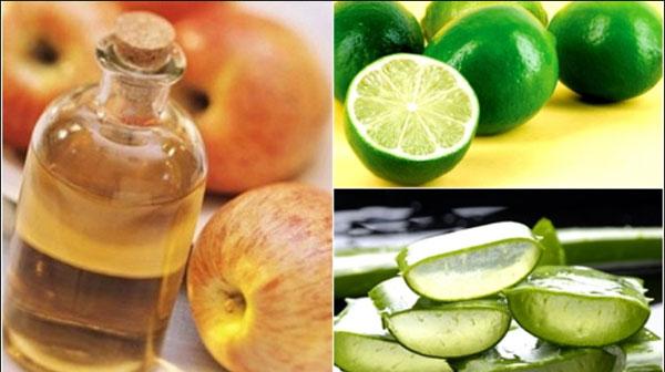 Nước detox chanh, nha đam, giấm táo, mật ong và bạc hà