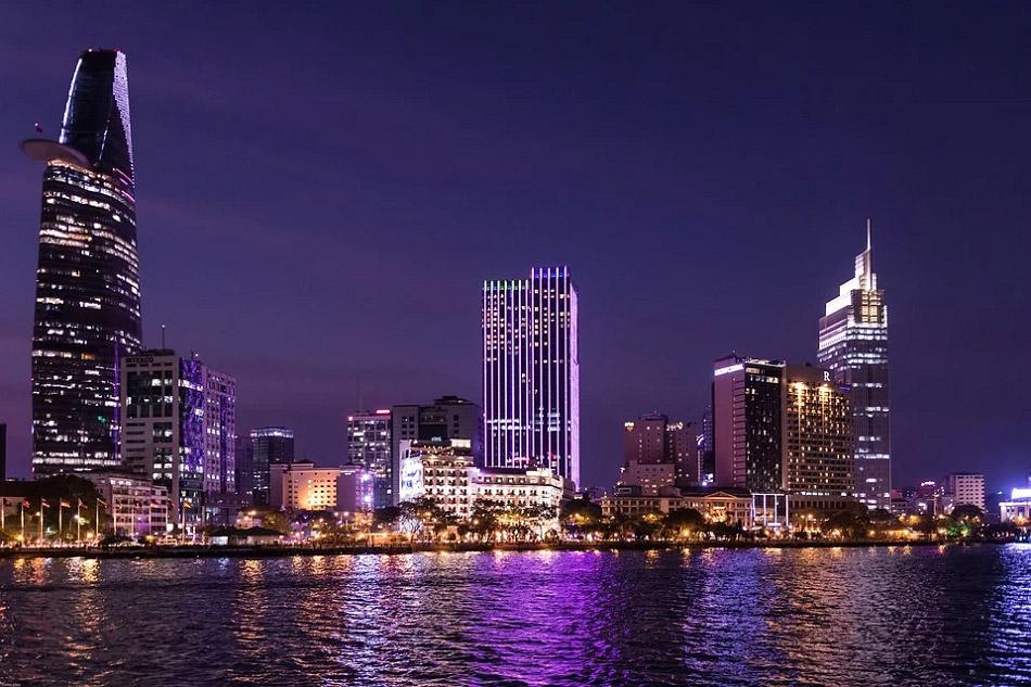 Ảnh chụp thành phố Hồ Chí Minh vào ban đêm