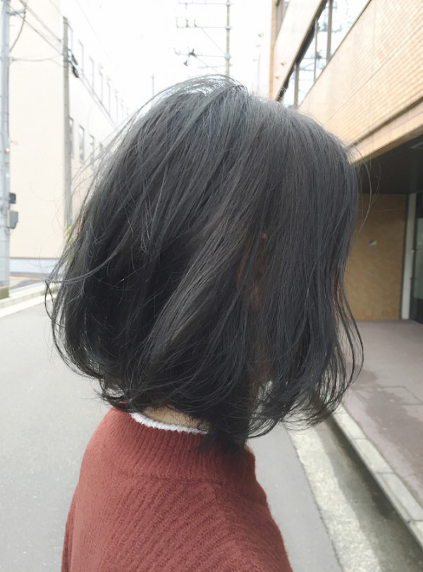Nhuộm tóc màu đen khói xám