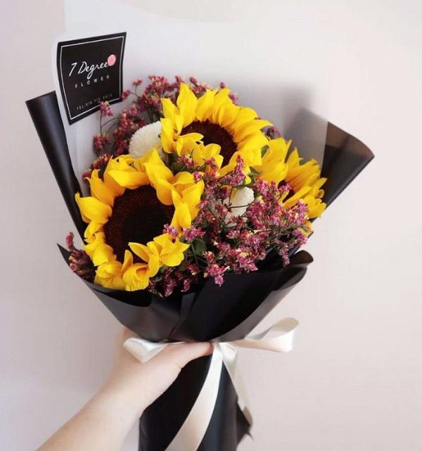 Hình ảnh bó hoa hướng dương đẹp 1