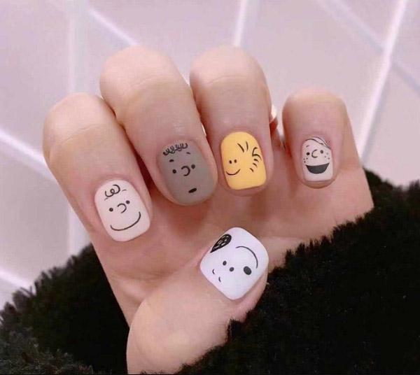 Mẫu nail vẽ hình dễ thương
