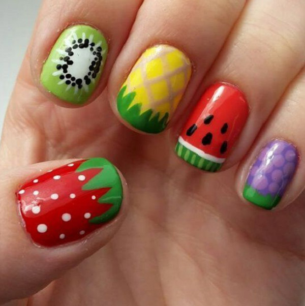 Mẫu nail hoa quả