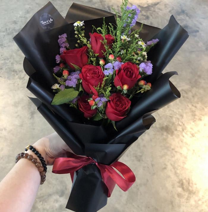 Hình ảnh bó hoa hồng đẹp 1