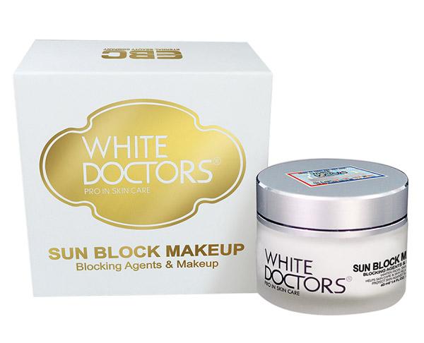 Thương hiệu mới nổi White Doctors cũng cho ra đời dòng sản phẩm chống nắng ngừa nám hiệu quả