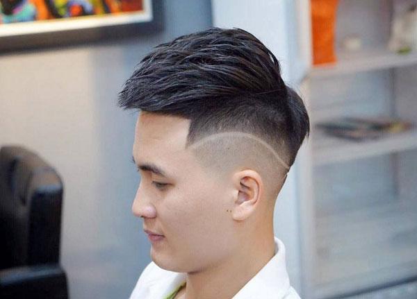 Tóc mohican kẻ, kiểu tóc nam thời trang