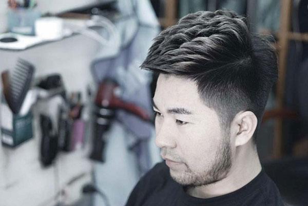 Tóc mohican cho mặt tròn