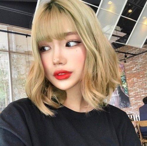 Tóc màu vàng rêu – Màu tóc đẹp ngây ngất và hot nhất hiện nay