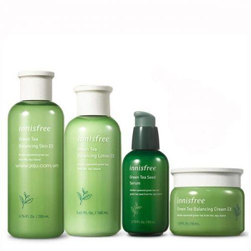 Bộ sản phẩm chăm sóc và bảo vệ da đến từ thương hiệu Innisfree Hàn Quốc