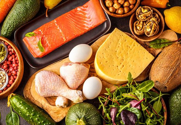Các thực phẩm trong thực đơn keto